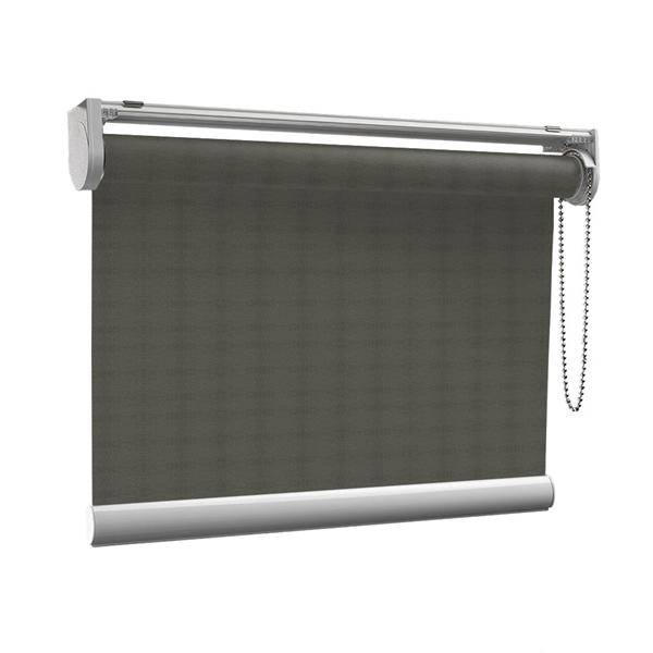 Afbeelding van Rolgordijn op maat met Kliksysteem - Modieus bruin Semi transparant