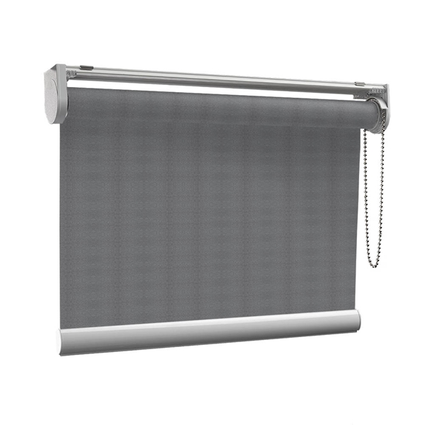 Afbeelding van Rolgordijn op maat met Kliksysteem - Retro grijs Semi transparant