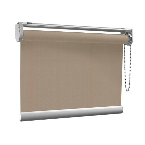 Afbeelding van Rolgordijn op maat met Kliksysteem - Beige donkergroen Semi transparant