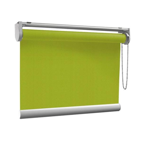 Afbeelding van Rolgordijn op maat met Kliksysteem - Limegroen donker Semi transparant