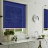 Afbeelding van Rolgordijn op maat met Kliksysteem - Blauw paars Semi transparant