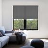 Afbeelding van Rolgordijn op maat met Kliksysteem - Donker grijs gemeleerd Semi transparant