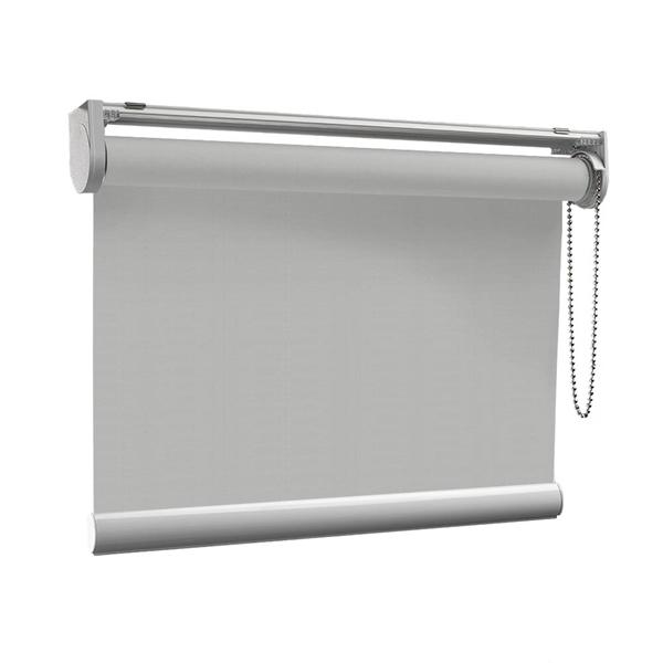 Afbeelding van Rolgordijn op maat met Kliksysteem - Lichtgrijs gemeleerd Semi transparant