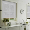 Afbeelding van Rolgordijn op maat met Kliksysteem - Wit parel Semi transparant