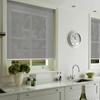 Afbeelding van Rolgordijn op maat met Kliksysteem - Lichtgrijs wit verticaal gemeleerd Semi transparant