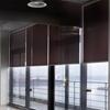 Afbeelding van Rolgordijn op maat Klik-en-klaar - Glans bruingrijs met streep Transparant
