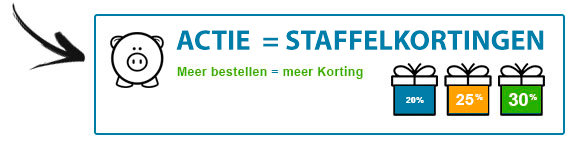 staffelkortingen to 30%